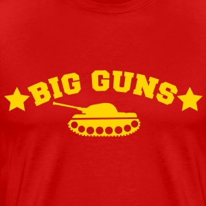 BIG GUNS stars and a tank (my secret weapons) T-Shirts - Men's Premium T-Shirt