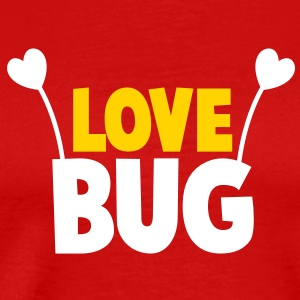 love bug cute with heart shaped antennae T-Shirts - Men's Premium T-Shirt