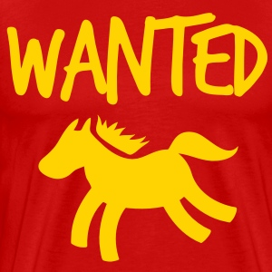pony horse wanted T-Shirts - Men's Premium T-Shirt