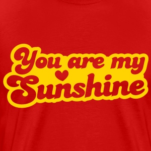 you are my sunshine with love heart T-Shirts - Men's Premium T-Shirt