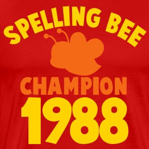 spelling bee champion 1988 super cute college shirt T-Shirts - Men's Premium T-Shirt