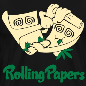 Rolling Papers T-Shirts - stayflyclothing.com - Men's Premium T-Shirt