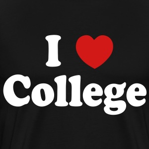 I Love College T-Shirts - stayflyclothing.com - Men's Premium T-Shirt