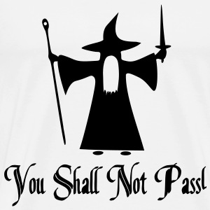 You Shall Not Pass Vector T-Shirts - Men's Premium T-Shirt