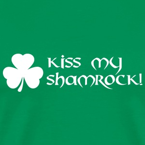 kiss my shamrock St. Patrick´s Day T-Shirts - Men's Premium T-Shirt