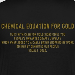 South Park: Chemical Equation for Gold (Front & Back) - Men's - Men's Premium T-Shirt