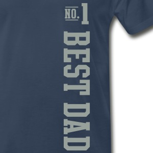 No1 BEST DAD T-Shirt SN - Men's Premium T-Shirt