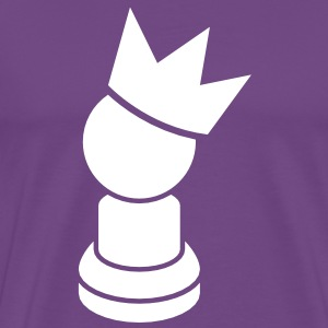 chess PAWN with a royal kings crown T-Shirts - Men's Premium T-Shirt
