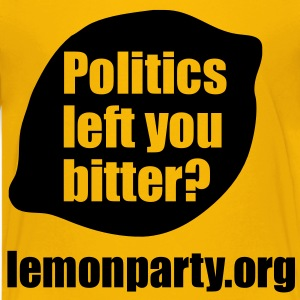Politics left you bitter? lemonparty.org Kids' Shirts - Kids' Premium T-Shirt