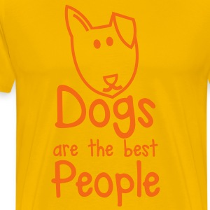 DOGS are the BEST people T-Shirts - Men's Premium T-Shirt