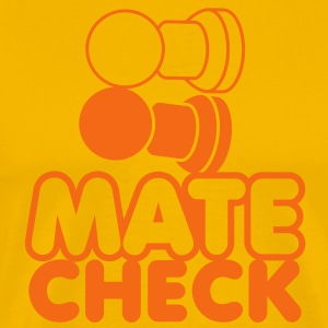 MATE CHECK sexy chess pieces wordplay on checkmate T-Shirts - Men's Premium T-Shirt