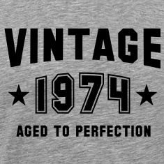 VINTAGE 1974 - Birthday T-Shirt BH