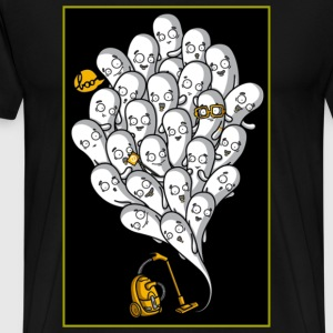 ghosts with vaccuum T-Shirts - Men's Premium T-Shirt