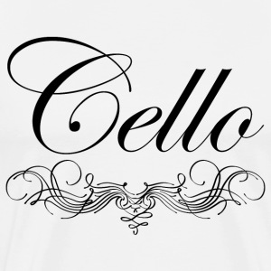 Cello Script T-Shirts - Men's Premium T-Shirt