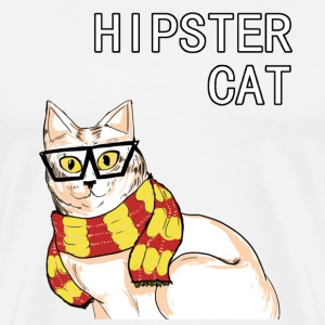 Hipster Cat - Men's Premium T-Shirt
