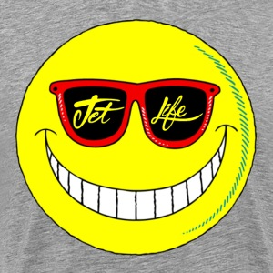 Jet Life Smiley Tee - Men's Premium T-Shirt