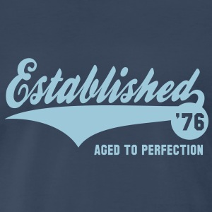 Established 1976 Birthday Anniversaire T-Shirt HN - Men's Premium T-Shirt