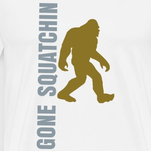 Gone Squatchin Gold Silver - Men's Premium T-Shirt