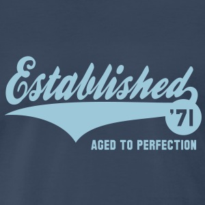 Established 1971 Birthday Anniversaire T-Shirt HN - Men's Premium T-Shirt