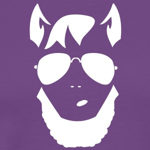 wolf man funky trendy face T-Shirts - Men's Premium T-Shirt