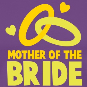 MOTHER OF THE BRIDE with cute love hearts and rings T-Shirts - Men's Premium T-Shirt