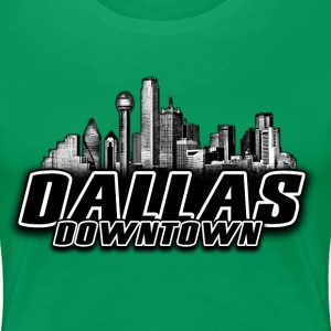 dallas downtown Skyline Women's T-Shirts - Women's Premium T-Shirt