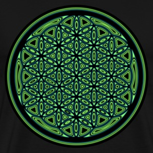 Green Flower of Life Orb T-Shirts - Men's Premium T-Shirt