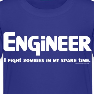 White Engineer Zombie Fighter Toddler Shirts - Toddler Premium T-Shirt