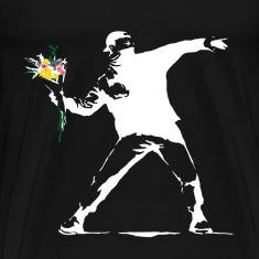 Flower Thrower White - Unofficial Banksy