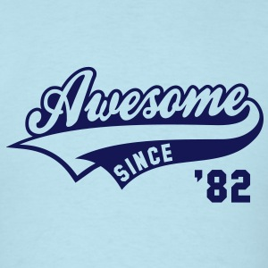 Awesome SINCE 1982 - Birthday Anniversaire T-Shirt NS - Men's T-Shirt