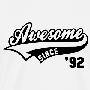 Awesome SINCE 1992 - Birthday Anniversaire T-Shirt BW - Men's Premium T-Shirt