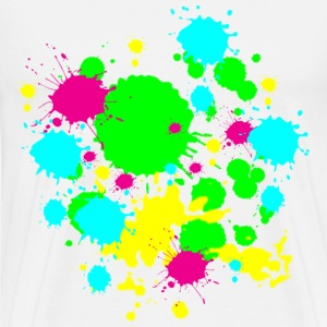 Colors Paint Splatter - Unisex Graffiti Spatter Graphic Design - Multicolor - Men's Premium T-Shirt