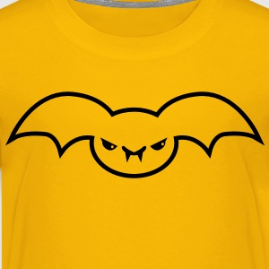 evil batty bat emo creature Kids' Shirts - Kids' Premium T-Shirt