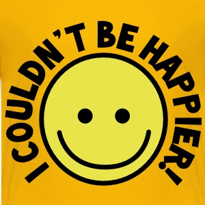 I couldn't be HAPPIER! with yellow smiley Kids' Shirts - Kids' Premium T-Shirt