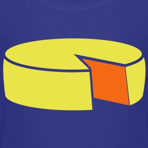 cheese wheel large 2 color Kids' Shirts - Kids' Premium T-Shirt