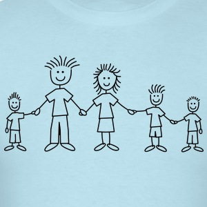 doodle_family_with_3_boys_1c T-Shirts - Men's T-Shirt