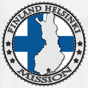 Finland Helsinki LDS Mission Flag - Called to Serve - Men's Premium T-Shirt