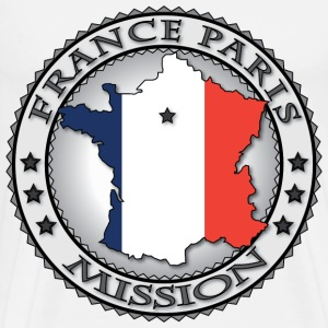 France Paris LDS Mission Flag - Called to Serve - Men's Premium T-Shirt