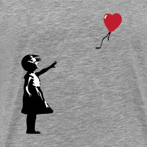 Banksy Balloon Girl - Men's Premium T-Shirt