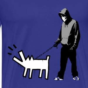 Banksy Haring Dog - Men's Premium T-Shirt