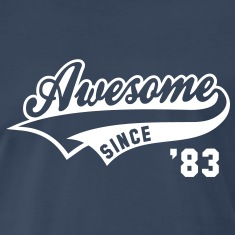 Awesome SINCE 83 Birthday Anniversary T-Shirt WN