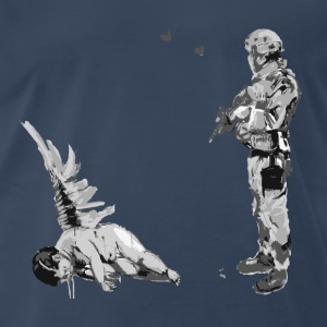 Banksy Fallen Angel - Men's Premium T-Shirt
