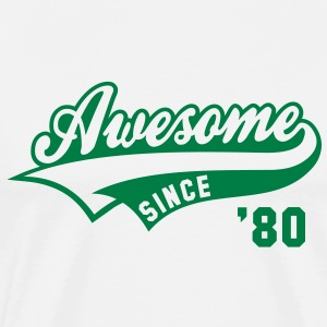 Awesome SINCE 80 Birthday Anniversary T-Shirt GW - Men's Premium T-Shirt