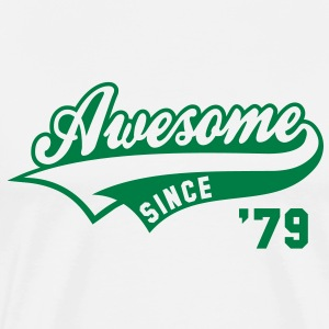 Awesome SINCE 79 Birthday Anniversary T-Shirt GW - Men's Premium T-Shirt