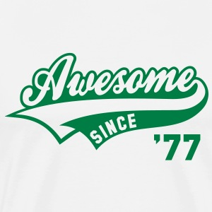 Awesome SINCE 77 Birthday Anniversary T-Shirt GW - Men's Premium T-Shirt