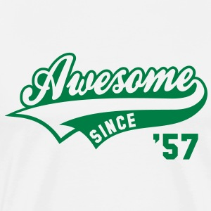Awesome SINCE 57 Birthday Anniversary T-Shirt GW - Men's Premium T-Shirt