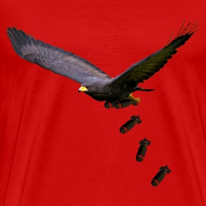 Black Hawk Bombing Run (Dropping Bombs) - Men's Premium T-Shirt