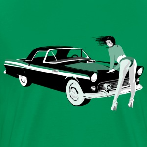 Sexy girl & hot car (dd print) T-Shirts - Men's Premium T-Shirt