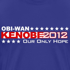 Obi Wan Kenobi 2012 He's Our Only Hope - Men's Premium T-Shirt
