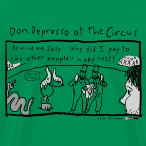 Don Depresso at the Circus - Men's Premium T-Shirt